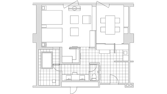 EXECUTIVE  SUITE TWIN FLOOR PLAN