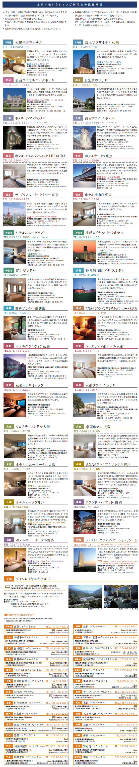 HOTEL SELECTION