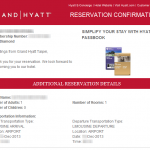 HYATT RESERVATION 201311 1