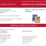 HYATT RESERVATION 201311 2