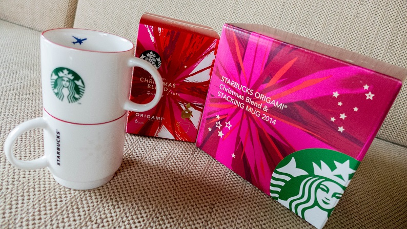 Starbucks ORIGAMI® Christmas Blend & Stacking Mug 2014 - ANA Limited Edition 1
