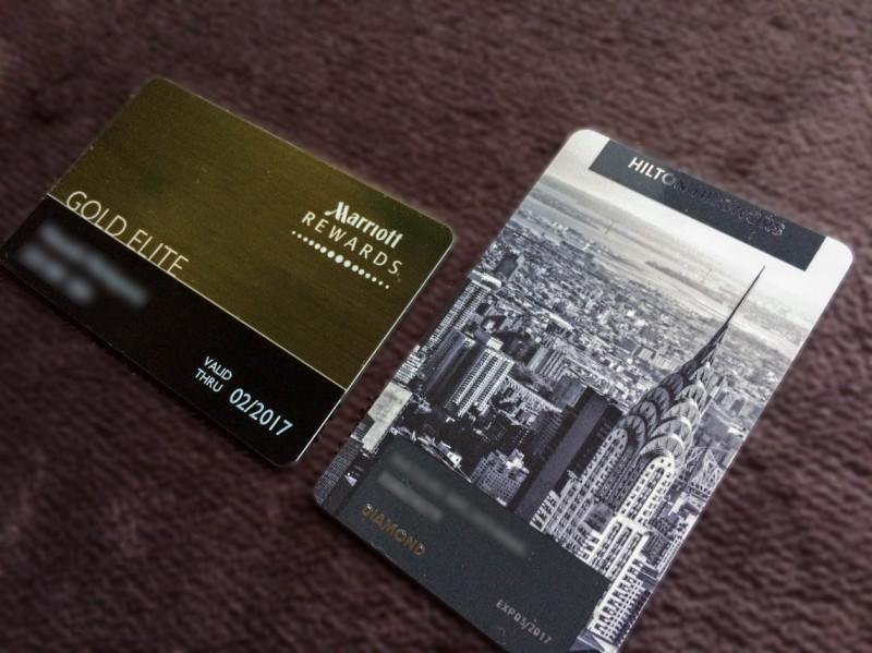 Hilton Diamond & Marriott gold 201611