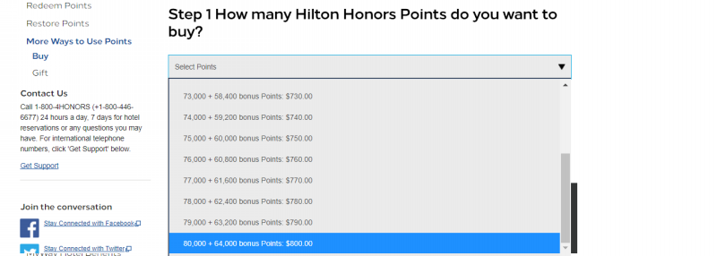 hilton honors buy points 201802 2