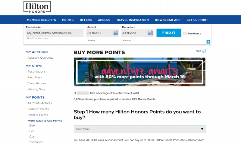 hilton honors buy points 201802 1