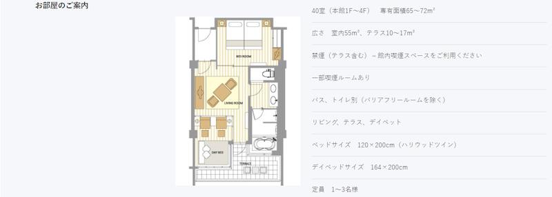shigira bayside allamanda superior suite room plan